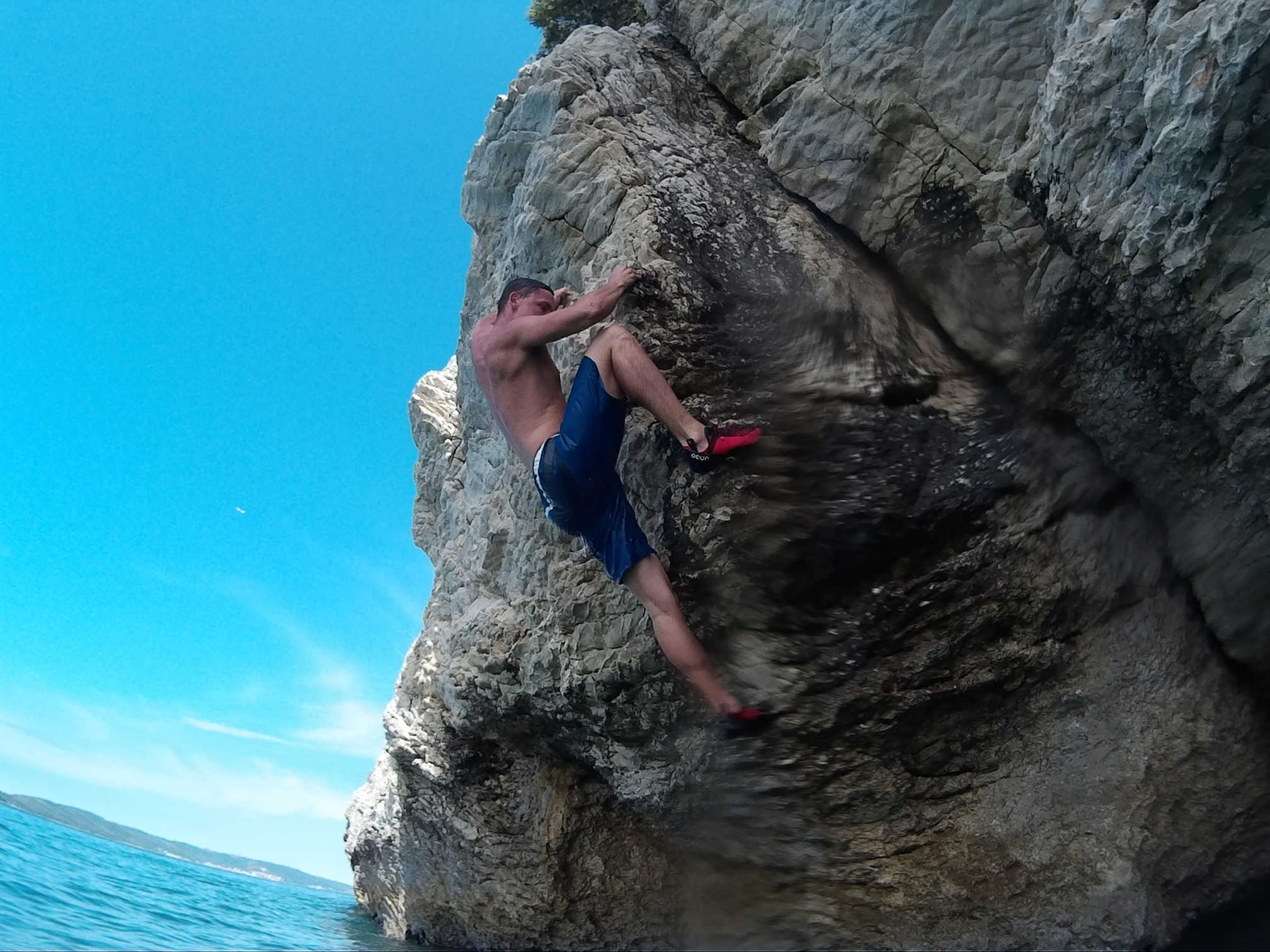 Deep Water Solo and Cliff Jumping Split Croatia
