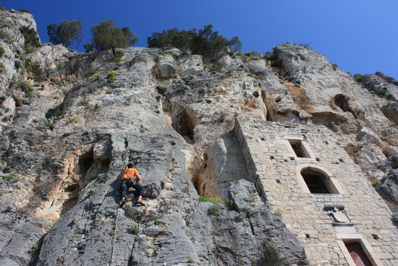 rock climbing in split on marjan hill given2fly adventures. Black Bedroom Furniture Sets. Home Design Ideas